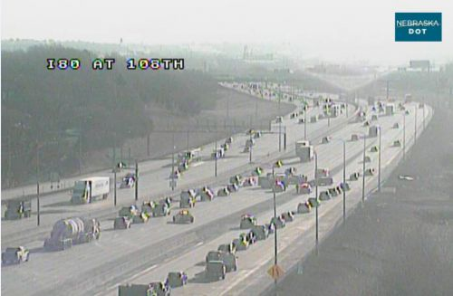Four-vehicle crash on Interstate 80 causes delays early Monday