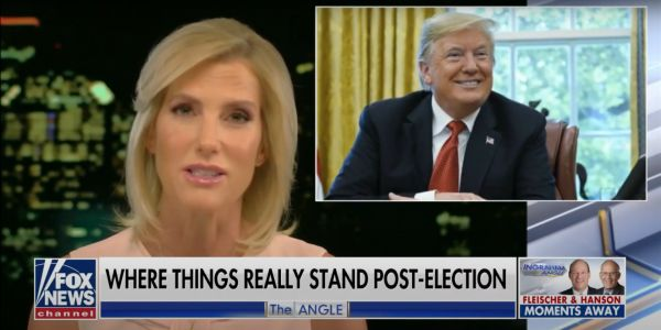 Laura Ingraham told viewers that Biden will be the next president, and suggested that anyone who says otherwise is lying