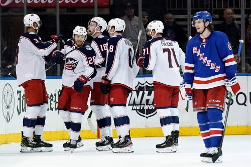 Rangers blow late lead to Blue Jacket as playoff push takes hit