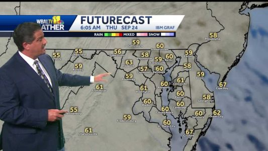 Upper 70s, sunny Wednesday