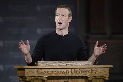 Zuckerberg defends Facebook's 'free expression' in Georgetown address