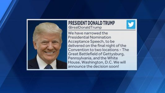 President Trump may deliver convention speech in Gettysburg