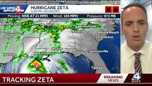Tracking Zeta: Tropical storm warning for our area