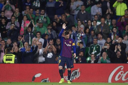 A laser-guided free kick, a poke from a brilliant back-heel, and an audacious chipped goal: Lionel Messi's 51st career hat trick was so good the opposition fans stood and applauded