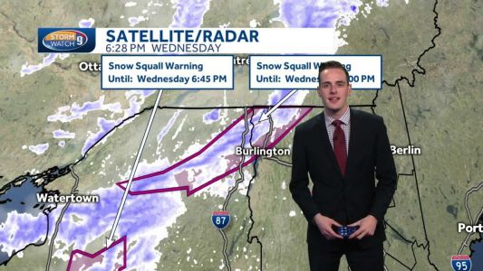 Watch: Snow squalls move through in north overnight
