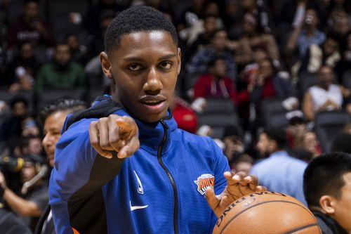 RJ Barrett lighting it up in the Knicks' bubble
