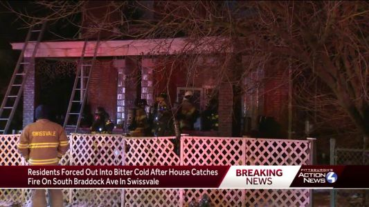 Residents forced out into bitter cold after house catches fire in Swissvale