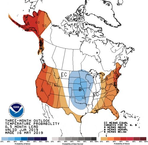 'Cooler, wetter season' on way for central region
