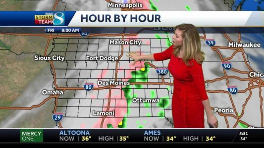Slick start with a wintry mix Friday