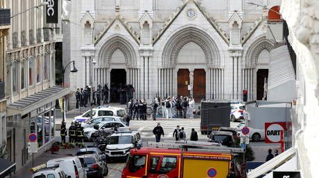 Nice church attack: Knifeman slits throat of at least one of his victims, reports citing officials say