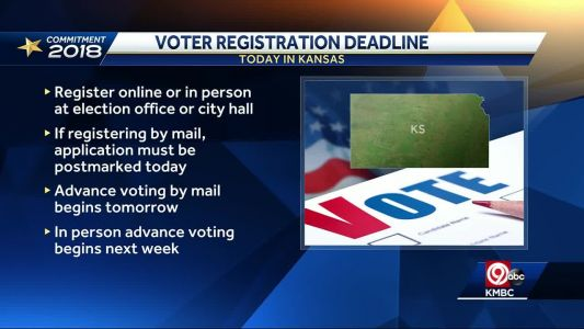 Deadline to register to vote in Kansas is Tuesday