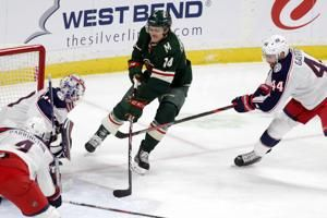 Koivu scores twice as Wild beat shorthanded Blue Jackets 5-4