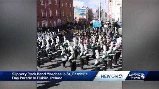Congrats to Slippery Rock! Marching band performs in Dublin St. Patrick's Day Parade, wins 2 awards in Ireland
