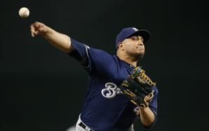Brewers designate opening day starter Chacín for assignment