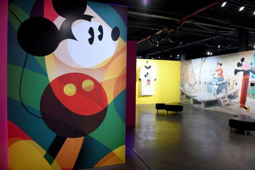 Here's what it's like inside the new Disney exhibit celebrating Mickey's 90th birthday