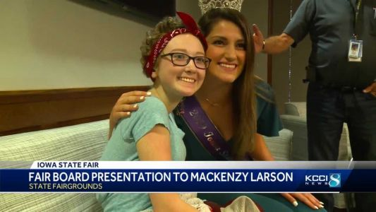 Iowa State Fair honors Kenzy Larson for strength, selflessness