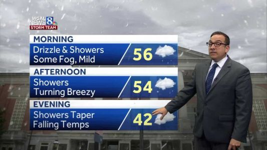 Mild & Rainy Start To Tuesday; Light Snow Early Wednesday Morning