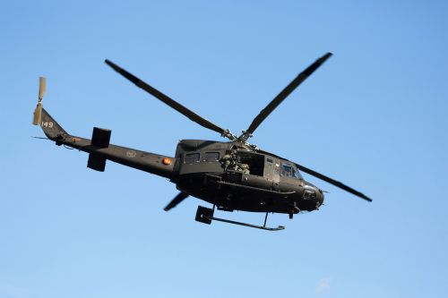 Air Force helicopter flying over Virginia shot by a bullet
