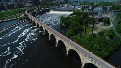 Stone Arch Bridge Facing Repairs, Or Closure
