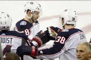 Bjorkstrand scores twice, rallies Jackets over Rangers 2-1