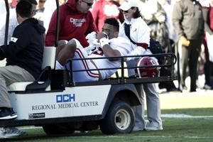 Alabama QB Tagovailoa carted off field vs Mississippi State