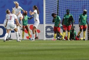 England beats Cameroon 3-0 to advance in World Cup