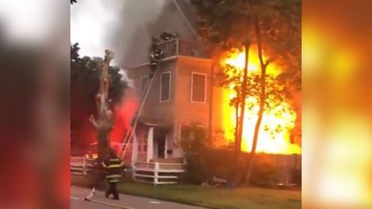 Dramatic video shows 98-year-old, 95-year-old rescued from raging fire