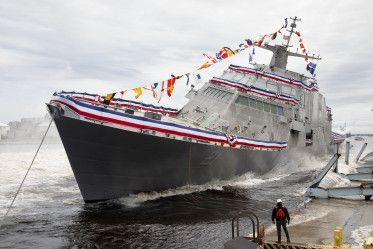 USS Minneapolis-St. Paul Christened, Launched In Wisconsin