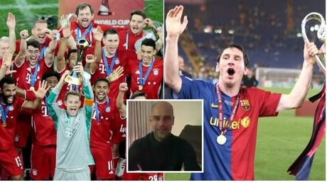 'I'll call Messi, tell me when and where': Guardiola challenges Bayern after Germans repeat 'sextuple' feat of iconic Barca team