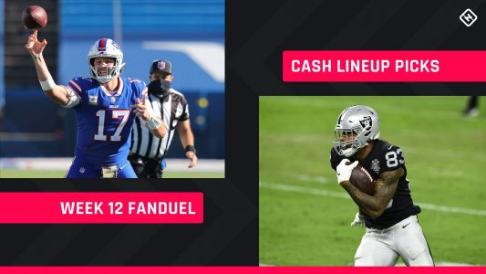 FanDuel Picks Week 12: NFL DFS lineup advice for daily fantasy football cash games