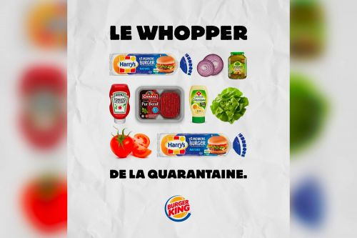 Burger King France gives instructions for making a Whopper at home
