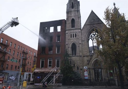 Predawn fire guts old church housing New York's Liberty Bell
