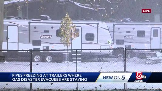 Pipes freezing in trailers where gas disaster evacuees are staying