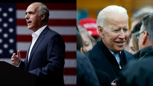 Sen. Bob Casey endorses Biden in Democrats' 2020 race for president