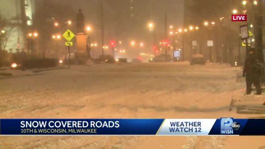 Milwaukee dealing with snow covered roads from Friday's winter storm