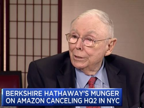 CHARLIE MUNGER ON HQ2: 'Driving the rich people out is pretty dumb if you're a state or a city'