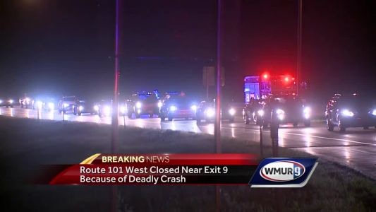 Route 101 West closed near Exit 9 due to deadly crash