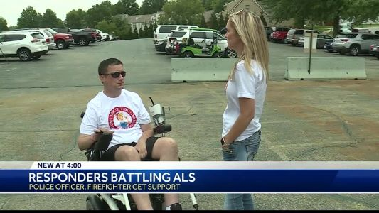 2 celebrities show support for 2 first responders battling ALS