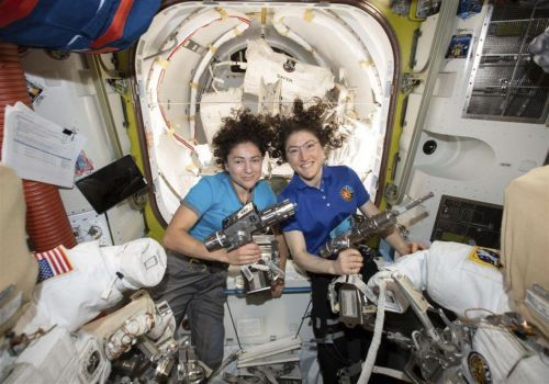 WATCH: World's 1st female spacewalking team makes history
