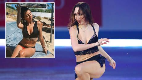 Russian 'striptease' figure skater Tuktamysheva shares saucy photos from summer vacation