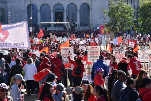 Los Angeles teachers end nine-day strike