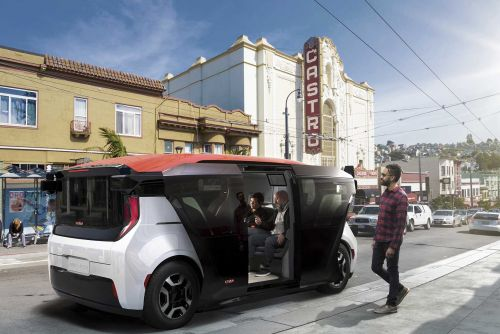 This self-driving car has no steering wheel or pedals