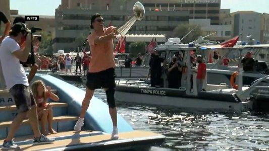 'That was not smart' Brady says about boat parade trophy toss