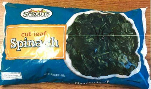 Sprouts Farmers Market recalls frozen spinach in several states due to listeria concerns