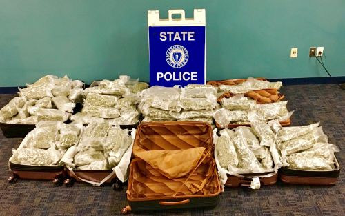150 pounds of marijuana found in suitcases at Logan; 3 suspects arrested