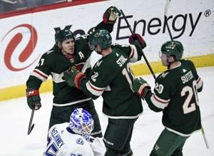 Parise, Suter score as Wild beat Lightning 3-2 to snap skid