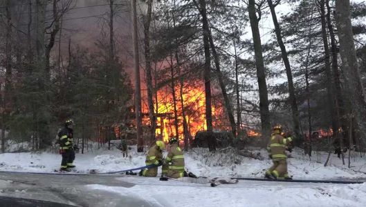 Family home destroyed by four-alarm fire