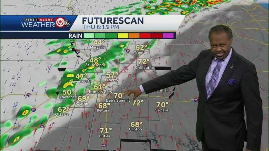 Rain, storms move in Thursday night with cold front