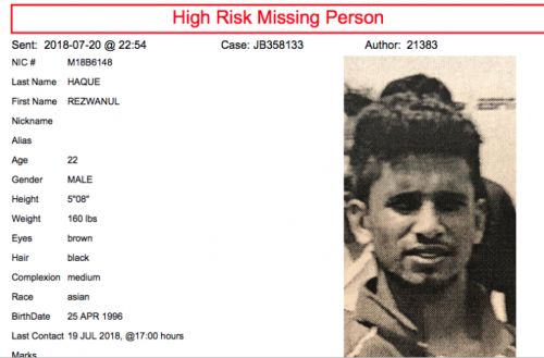 Police searching for missing Special Olympics participant
