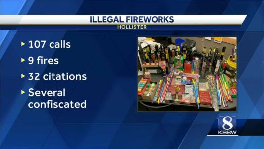 Hollister police see record number of illegal fireworks
